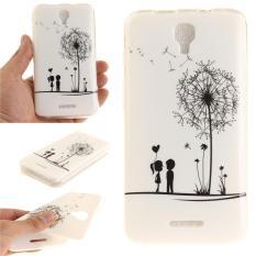 Moonmini Case untuk Alcatel Pixi 4 5.0 5045d Ultra Slim Soft TPU Kembali Case-dandelion Lover-Intl