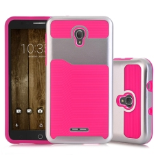 Moonmini Case untuk Alcatel Pop4 Plus Alcatel Fierce 4 Hybrid Armor Shockproof Case-Hot Pink-Intl