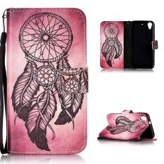 Moonmini Case untuk HTC Desire 626 Penutupan Magnetik Kulit PU Case Flip Stand Cover-Dream Catcher-Intl