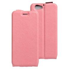 Moonmini Case untuk HTC One A9S Case Kulit Case Dompet Lipat Slot Kartu Cover-Pink-Intl