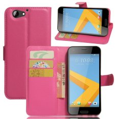 Moonmini Case for HTC One A9s Case Premium Leather Wallet Case Flip Stand Cover - Hot Pink - intl