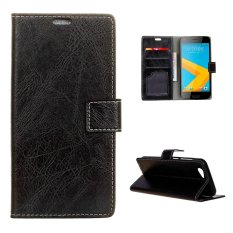 Moonmini Case for HTC One A9s Crazy Horse Pattern PU Leather Case - Black - intl