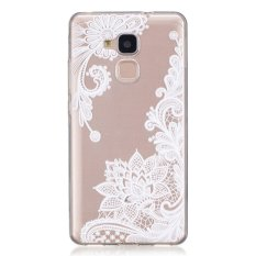 Moonmini Case for Huawei Honor 5C Slim Fit Soft TPU Clear Back Case Cover - Lace Flower - intl