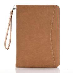 Moonmini Case untuk IPad Air 2/iPad 6 Stand Slot Kartu Leather Flip Case Dompet Cover-Coklat- INTL
