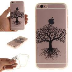 Moonmini Case untuk IPhone 6/iPhone 6 S 4.7 Inch Slim Transparan Lembut TPU PELINDUNG Belakang-Pohon Hitam -Intl