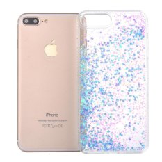 Moonmini Case untuk iPhone 6 Plus/Iphone 6 S Plus Case Diamond Lumpur Case PC Bening Keras Penutup Belakang TPU Side-Biru