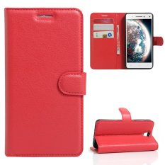 Moonmini Case untuk Lenovo VIBE S1 Lite Case Dompet Stand Leather Case Flip Cover-Merah-Intl