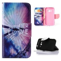 Moonmini Case untuk Samsung Galaxy J1 Ace Penutup Dudukan Flip Case Kulit-Saya Suka Musim Panas-Intl