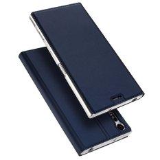 Moonmini Case untuk Sony Xperia XZ Case Mewah Sampul Buku Kulit Desain Penyangga Lipat Bermagnet Cover