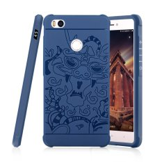 Moonmini Sarung untuk Xiaomi Mi 4 S Soft Silicone Anti-Knock Karet Case-Safir Biru-Intl