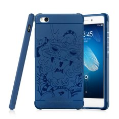... ANTI KNOCK RUBBER CASE SAPPHIRE BLUE INTL. Moonmini Case untuk Xiaomi Redmi 3 3D Dragon Relief Soft Silicone Karet Case -sapphire Blue
