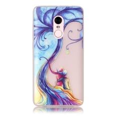 Moonmini Sarung untuk Xiaomi Redmi Note 4 Cahaya Neon Efek Bercahaya Lembut Case-Kekasih