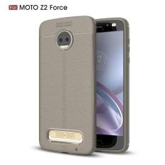 Moonmini For Motorola Moto Z2 Force Litchi Grain Shock Absorbing Anti-slip Ultra Slim Bumper Back Case Cover - intl