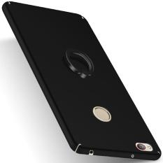 Moonmini untuk ZTE Nubia Z11 Minis Ultra Slim Buram Matte Hard Pc Anti-Scratch Back Case dengan Kurung Cincin -hitam-Intl