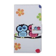 Moonmini Kulit PU Case Flip Dompet Stand Cover untuk Microsoft Lumia 850-Owl Lover-Intl