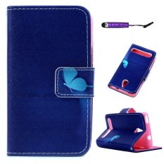 Moonmini PU Kulit Case Flip Dompet Stand Cover untuk ACER Betouch E140-butterfly-Intl