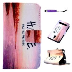 Moonmini PU Leather Case Flip Stand Wallet Cover for Acer Betouch E140 - HOPE - intl
