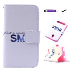 Moonmini PU Leather Case Flip Dompet Stand Cover untuk ACER Betouch E140-SENYUM-Intl
