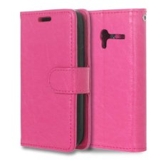Moonmini PU Leather Cover for Alcatel One Touch Pixi 3 OT4009E 3.5 inch (Hot Pink) - intl
