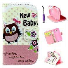 Moonmini PU Stand Dompet Kulit Case Cover untuk Samsung GALAXY Trend Lite S7392-Baby Bird-Intl