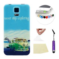 Moonmini TPU Ponsel Casing Belakang Penutup Kulit Pelindung Shell Case untuk Samsung Galaxy S5 I9600 Lembut