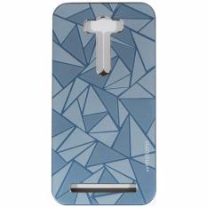 Motomo 3D Rubber Polycarbonat + Metal Allumunium Hardcase Case For Asus Zenfone 2 Laser 5.0 ZE500KL Ukuran 5.0 Inch Hard Back Case / Hard Back Cover - Biru Tua