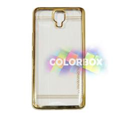 Motomo Case Shining Chrome Infinix Note 4 X572 / Softcase List Glossy / Jelly Case / Ultrahin / Silicone Shinning / Casing Infinix X572- Chrome Gold