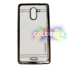 Motomo Chrome Infinix Hot 4 Pro X556  Case Shining Chrome Softcase / Ultrahin Infinix Hot 4 Pro X556 List Chrome / Jelly Case / Silicone Infinix Hot 4 Pro X556 Shinning / Case Infinix X556 Hot 4 Pro - Hitam