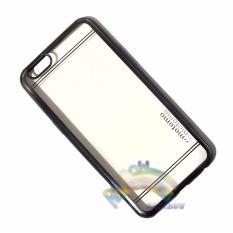 Motomo Chrome Oppo A57 Softcase Shining Chrome Glamour Bac Cover / Tpu Jelly Case/ Ultrahin Ring Glossy / Sofshell / Jelly Silikon / Silicone Shinning Kilau / Case HP / Case Unik / Casing Oppo  - Transparant List Hitam