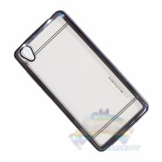 Motomo Chrome oppo Neo 9 A37 Softcase Shining Chrome Glamour Bac Cover / Tpu Jelly Case/ Ultrahin Ring Glossy / Sofshell / Jelly Silikon / Silicone Shinning Kilau / Case HP / Case Unik / Casing Oppo - Transparant List Hitam