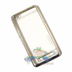 Motomo Chrome Xiaomi Redmi 4A Softcase Shining List Chrome Glamour / Tpu Jelly Case/ Ultrahin Ring Glossy / Sofshell / Jelly Silikon / Silicone Shinning Kilau / Case HP / Case Unik / Casing Xiaomi - Transparant List Silver