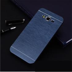 Motomo Samsung Galaxy J7 J700F Hardcase Backcase Samsung Galaxy J7 J700F Casing Samsung Galaxy J7 J700F Metal Case Samsung Galaxy J7 J700F - Biru Tua