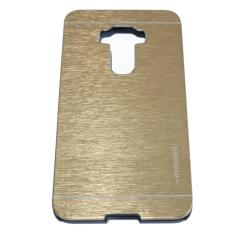 Motomo Hardcase For Asus Zenfone 3 Ukuran 5.5 Inch ZE552KL Rubber Polycarbonat + Metal Hardcase Hard Back Case / Hard Back Cover / Metal Allumunium Case / Casing HP / Casing Handphone - Gold