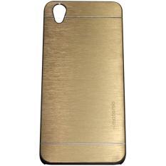 Motomo Hardcase For Oppo Neo 9 A37  Rubber Polycarbonat + Metal Hardcase Hard Back Case / Hard Back Cover / Metal Allumunium Case / Casing HP / Casing Handphone - Gold