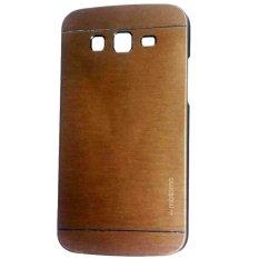 Motomo Hardcase For Samsung Galaxy J2 Prime Rubber Polycarbonat + Metal Hardcase Hard Back Case / Hard Back Cover / Metal Allumunium Case / Casing HP / Casing Handphone - Gold
