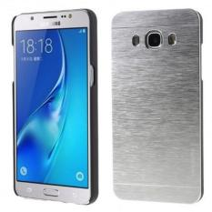 Motomo Hardcase For Samsung Galaxy J2 Prime Rubber Polycarbonat + Metal Hardcase Hard Back Case / Hard Back Cover / Metal Allumunium Case / Casing HP / Casing Handphone - Silver