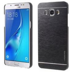 Motomo Hardcase For Samsung Galaxy j7 ( 2016 ) J710 Rubber Polycarbonat + Metal Hardcase Hard Back Case / Hard Back Cover / Metal Allumunium Case / Casing HP / Casing Handphone - Hitam