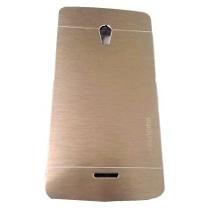 Motomo Hardcase Metal Aluminium untuk Oppo Joy Plus R1011 - Gold