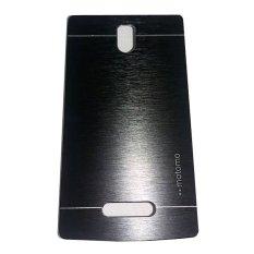 Motomo Lenovo A2010 Hardcase Backcase Metal Case - Hitam