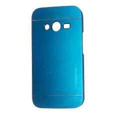 Motomo Samsung Ace 4 / G313 Metal Hardcase / Metal Back Cover / Hardcase Backcase / Metal Case - Biru Muda