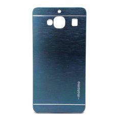 Motomo Samsung Galaxy Grand Max Hardcase Backcase Softcase Metal Case Biru Tua Donker