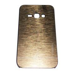 Motomo Samsung Galaxy J1 (2016) J120 / J1 2016  Metal Hardcase Alumunium Case Rubber Polycarbonat + Metal Hardcase / Hard Back Cover / Casing HP / Casing Handphone - Gold