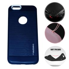 Motomo Softcase Apple iPhone 6 Plus Ukuran 5.5 Soft Back Case / Softshell / Silicone iphone 6 plus 5.5 / Jelly Case / Rubber Anti Slip iphone 6+ / Case iphone / Casing Hp  - Navy / Biru Tua