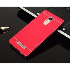 Motomo Xiaomi Redmi Note 3 Hardcase Backcase Xiaomi Redmi Note 3 Casing Xiaomi Redmi Note 3 Metal Case Xiaomi Redmi Note 3 - Merah