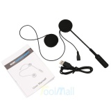 Harga Motor Helm Headset Bluetooth 4 Dual Pengeras Suara Stereo Hands Free Panggilan Musik Kontrol Earphone Mik Warna Hitam Hitam Terbaru