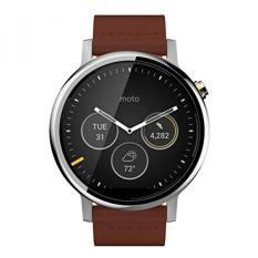 Beli Motorola 2Nd Generation Moto 360 46Mm Smartwatch With Leather Wrist Band Certified Refurbished Silver Cognac Dengan Kartu Kredit