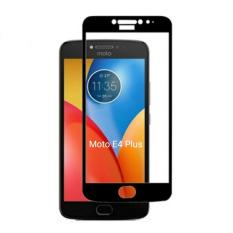 Motorola Full Screen Tempered Glass Moto E4 Plus 2.5D 0.3mm 9H List Warna -  Hitam