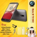 Beli Motorola Moto M Tx1663 4Gb Ram Splashproof Free Vr Glasses Mini Tripod Sim Converter Screen Protector Jelly Case Garansi Resmi Motorola Online