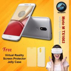 Motorola Moto M TX1663 4GB RAM Splashproof + Free VR Glasses + Screen Protector + Jelly case Premium Resmi
