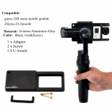 Promo Mount Plate Adapter Switch For Gopro 4 3 For Osmo Zhiyun Mobile Gimbal Handhel Intl Not Specified Terbaru
